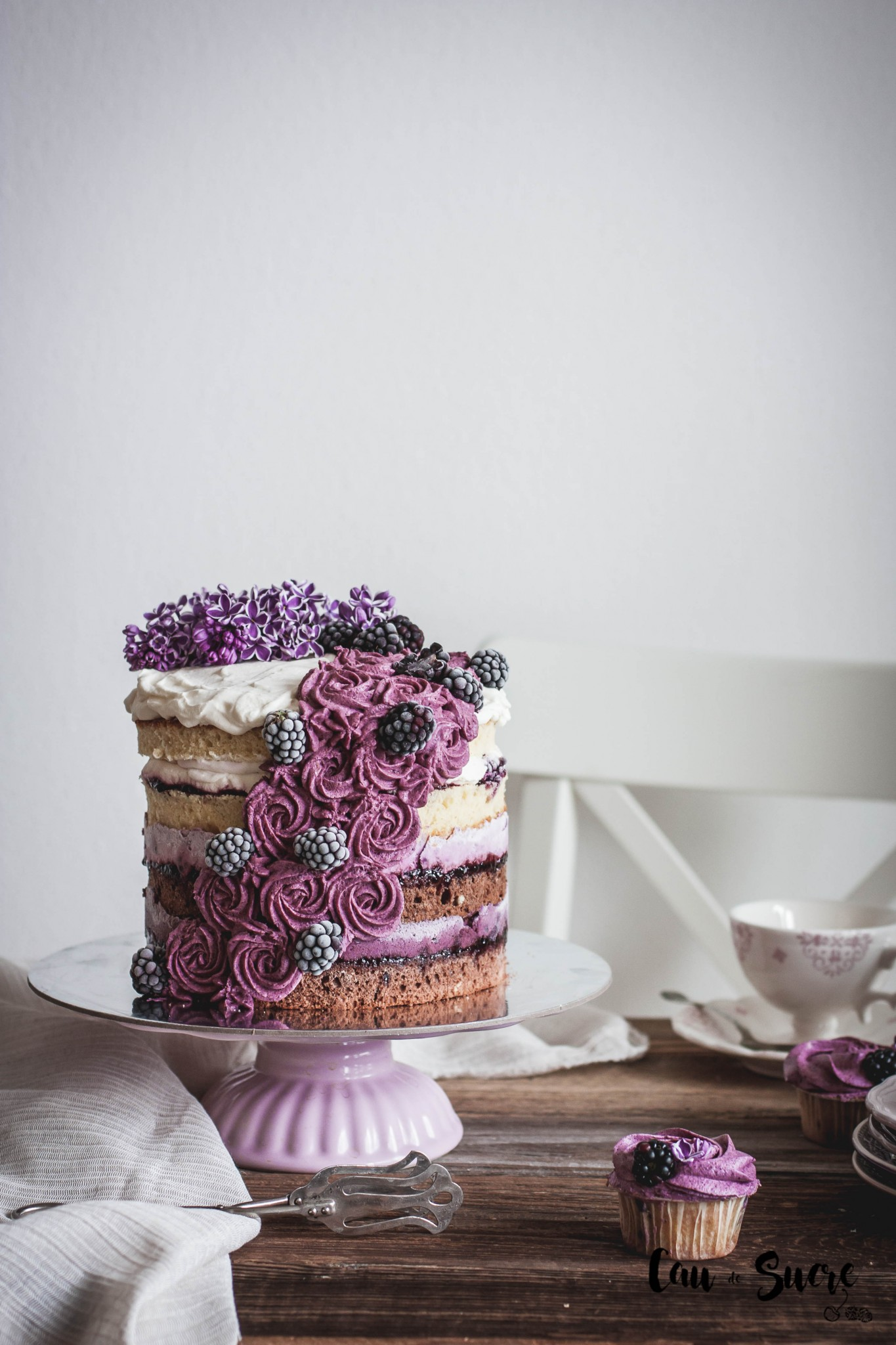 Ombré Layer Cake with yogurt blackberry cream – and the ...